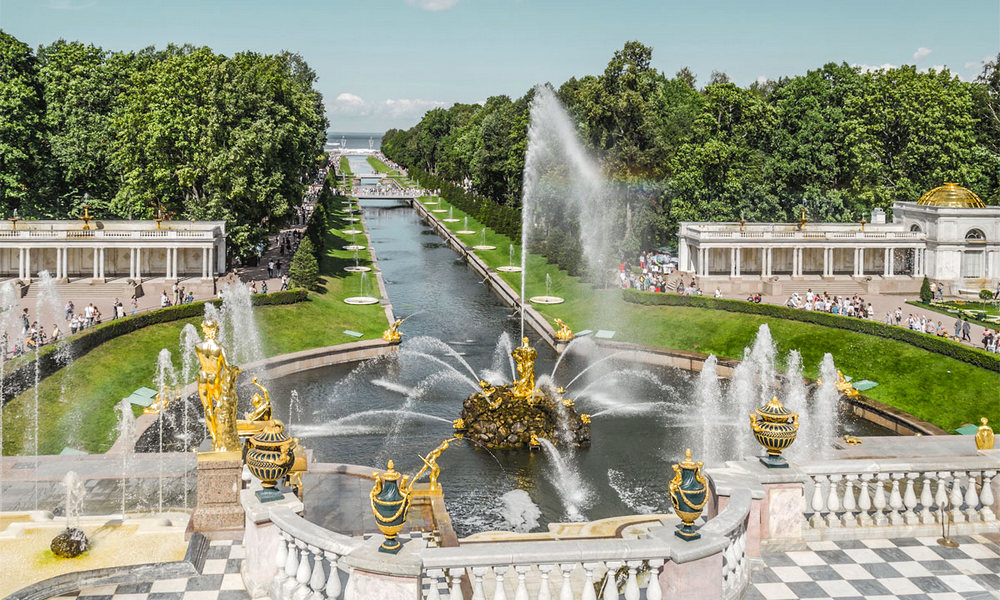 Peterhof - The royal Summer Palace of Tsar-Peter the First (Great), the founder of St.Petersburg.
